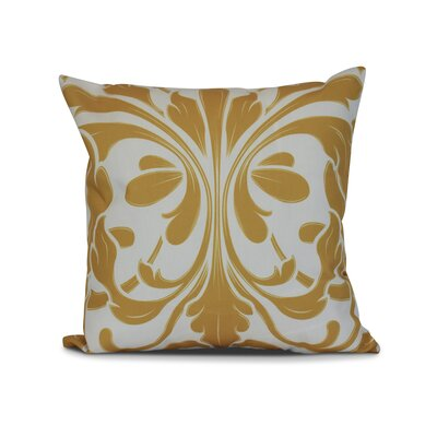 Harmen Print Throw Pillow Size: 16 H x 16 W x 3 D, Color: Gold