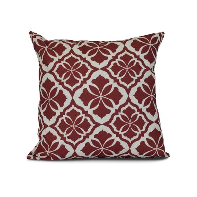 Murdock Geometric Print Throw Pillow Size: 18 H x 18 W x 3 D, Color: Red