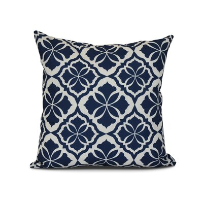Selina Ceylon Geometric Print Throw Pillow Size: 26 H x 26 W x 3 D, Color: Blue