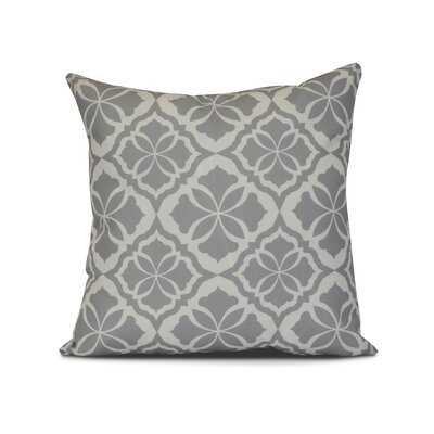 Selina Ceylon Geometric Print Throw Pillow Size: 26 H x 26 W x 3 D, Color: Gray