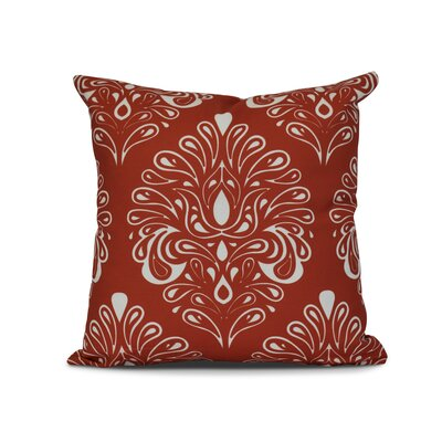 Harmen Print Throw Pillow Size: 18 H x 18 W x 3 D, Color: Orange