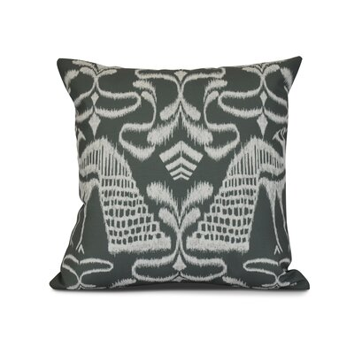 Selina Crown Outdoor Throw Pillow Size: 18 H x 18 W x 3 D, Color: Gray