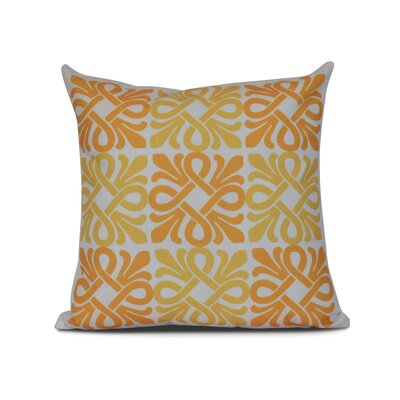 Temple Terrace Square Geometric Print Throw Pillow Size: 26 H x 26 W x 3 D, Color: Yellow