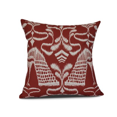 Selina Crown Outdoor Throw Pillow Size: 18 H x 18 W x 3 D, Color: Red
