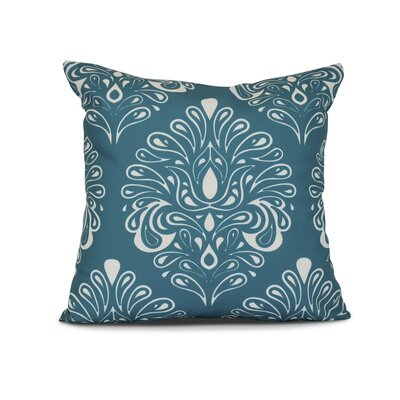 Harmen Print Throw Pillow Size: 18 H x 18 W x 3 D, Color: Teal