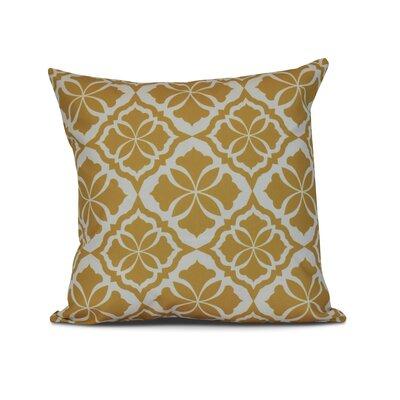 Selina Ceylon Geometric Print Throw Pillow Size: 26 H x 26 W x 3 D, Color: Gold