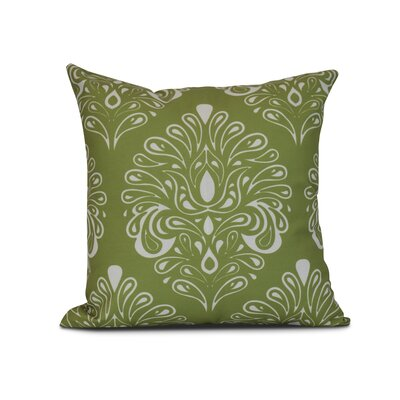 Harmen Print Throw Pillow Size: 18 H x 18 W x 3 D, Color: Green