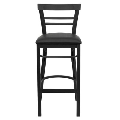 Barker Series 31 Bar Stool Upholstery: Black Vinyl