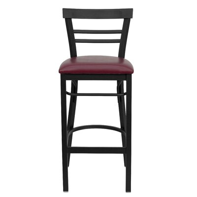 Barker Series 31 Bar Stool Upholstery: Burgundy Vinyl