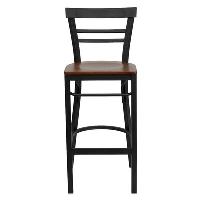 Barker Series 31 Bar Stool Upholstery: Cherry Wood