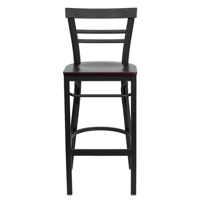 Barker Series 31 Bar Stool Upholstery: Mahogany Wood