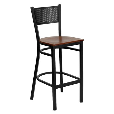 Barker Series 30.25 Bar Stool (Set of 2) Upholstery: Cherry Wood