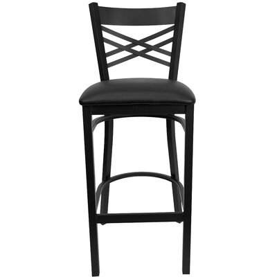 Barker Series 31 Bar Stool (Set of 2) Upholstery: Black Vinyl