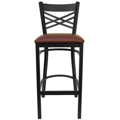 Barker Series 31 Bar Stool (Set of 2) Upholstery: Burgundy Vinyl