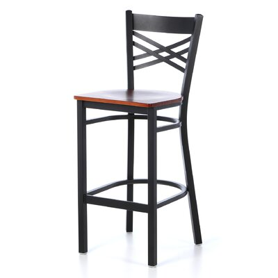 Barker Series 31 Bar Stool (Set of 2) Upholstery: Cherry Wood