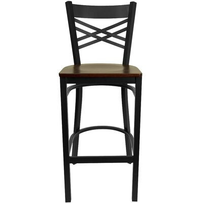 Barker Series 31 Bar Stool (Set of 2) Upholstery: Mahogany Wood