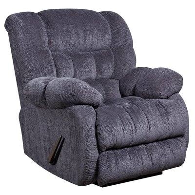 Augustus Contemporary Microfiber Rocker Recliner (Set of 2) Upholstery: Indigo Blue