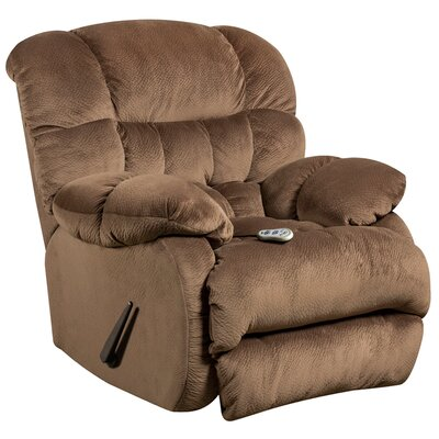 Barrington Massaging Microfiber Recliner with Heat Control Upholstery: Espresso