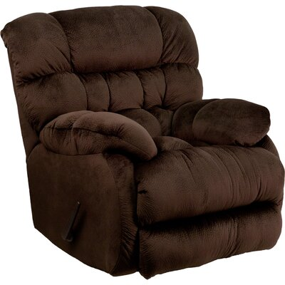Barrington Contemporary Microfiber Rocker Recliner Upholstery: Chocolate