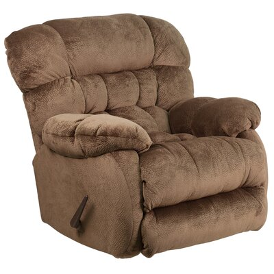 Barrington Contemporary Microfiber Rocker Recliner Upholstery: Espresso