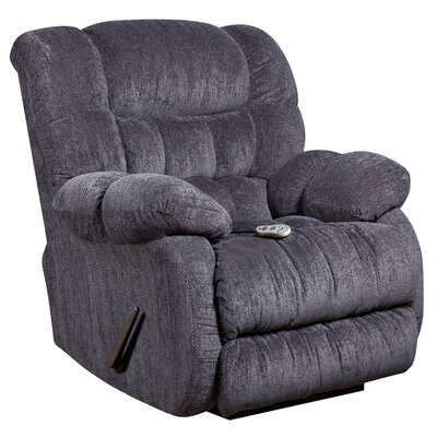 Augustus Power Rocker Recliner (Set of 2) Upholstery: Indigo Blue