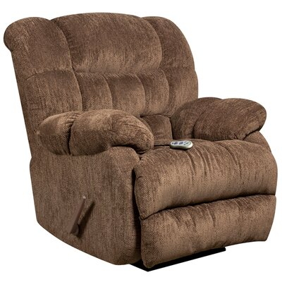 Augustus Massaging Microfiber Recliner with Heat Control (Set of 2) Upholstery: Mushroom