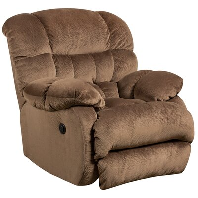 Barrington Contemporary Microfiber Power Recliner with Push Button Upholstery: Espresso