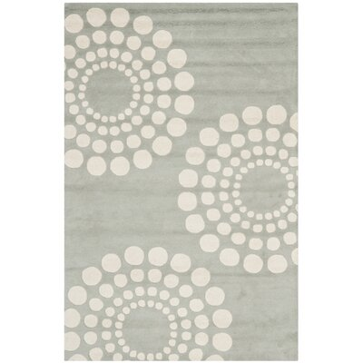 Dash Hand-Tufted Wool Gray/Ivory Area Rug Rug Size: Rectangle 36 x 56