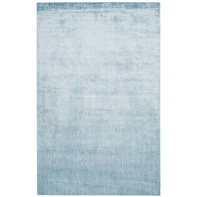 Barnabas Hand-Knotted Dream Blue Area Rug Rug Size: 8 x 10