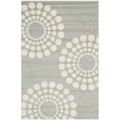 Bartlet Hand-Tufted Grey / Ivory Area Rug Rug Size: Square 6