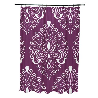 Selina Shower Curtain Color: Purple