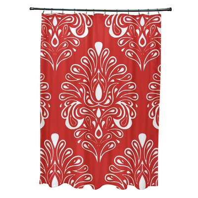 Selina Shower Curtain Color: Orange