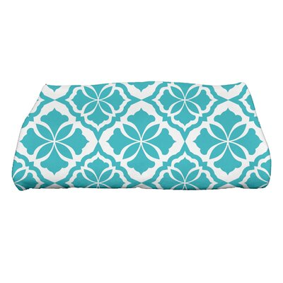 Ceylon Geometric Print Bath Towel Color: Turquoise