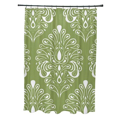 Selina Shower Curtain Color: Green