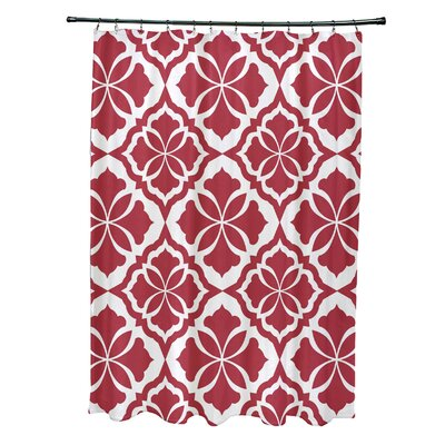Selina Shower Curtain Color: Red
