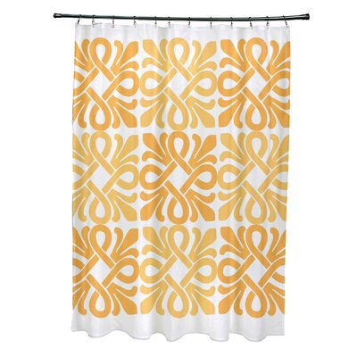 Selina Shower Curtain Color: Yellow