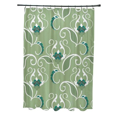 Harmen Shower Curtain Color: Green