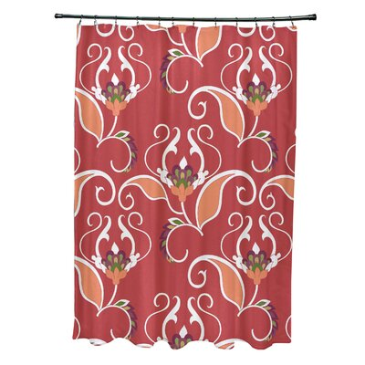 Harmen Shower Curtain Color: Red