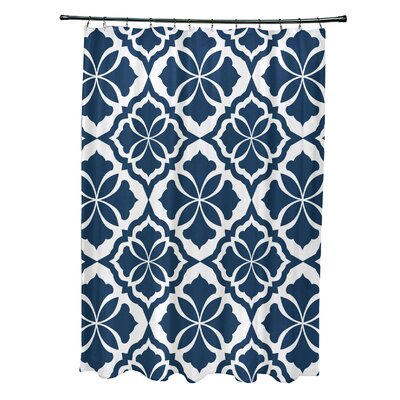 Murdock Shower Curtain Color: Blue