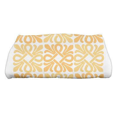 Tiki Square Geometric Print Bath Towel Color: Yellow