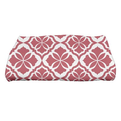 Ceylon Geometric Print Bath Towel Color: Red