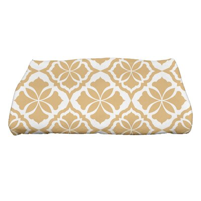 Ceylon Geometric Print Bath Towel Color: Yellow
