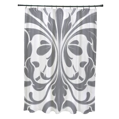 Selina Shower Curtain Color: Gray