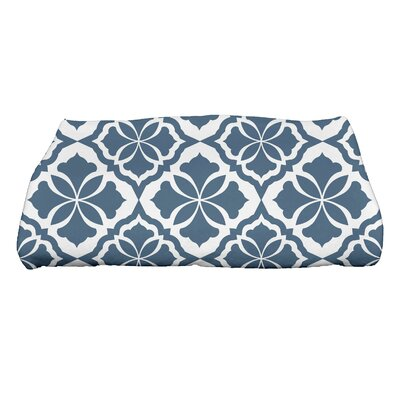 Ceylon Geometric Print Bath Towel Color: Blue