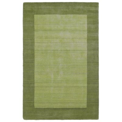 Attles Hand Woven Wool Celery Area Rug Rug Size: Rectangle 36 x 53