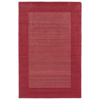 Attles Hand Woven Wool Watermelon/Cardinal Area Rug Rug Size: Rectangle 36 x 53