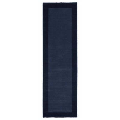 Attles Solid Kids Navy Area Rug Rug Size: Runner 26 x 89