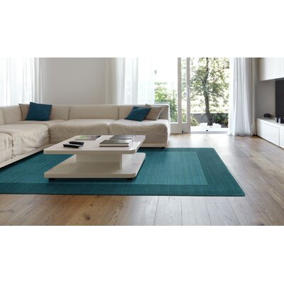 Attles Solid Turquoise Area Rug Rug Size: Rectangle 96 x 13