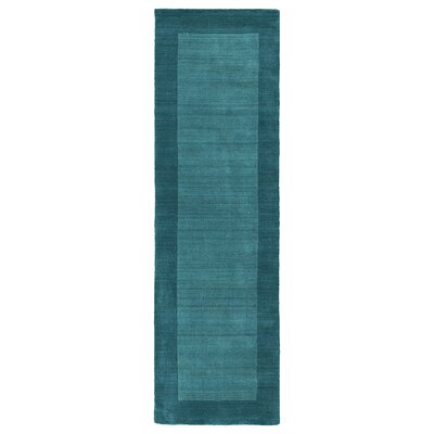 Attles Solid Turquoise Area Rug Rug Size: Runner 26 x 89