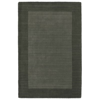 Attles Solid Charcoal Area Rug Rug Size: Rectangle 36 x 53